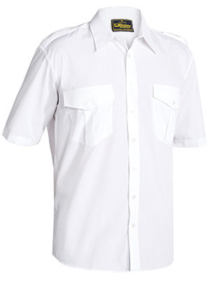 B71526 Men\'s Epaulette Shirt - Short Sleeve