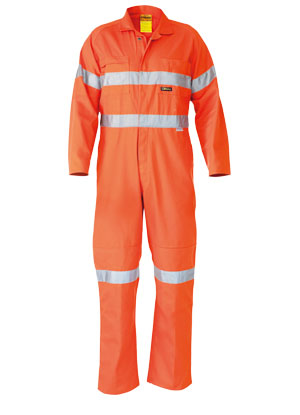 BC6718TW Hi Vis Lightweight Coveralls 3M Reflective Tape