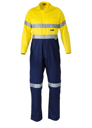BC6719TW 2 Tone Hi Vis Lightweight Coveralls 3M Reflective Tape