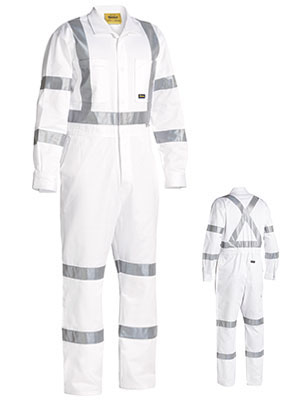 BC6806T 3M Taped White Drill Coverall