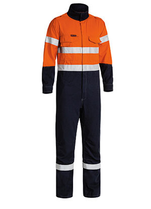 BC8086T Tencate Tecasafe Plus Taped 2 Tone Hi Vis Engineered Vented Coverall