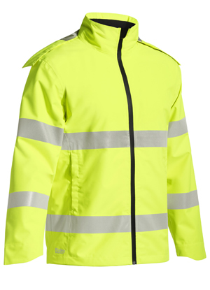 BJ6927T Taped Hi Vis Lightweight Ripstop Rain Jacket
