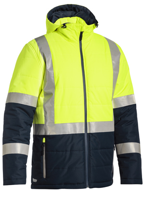 BJ6929HT Taped Two Tone Hi Vis Puffer Jacket