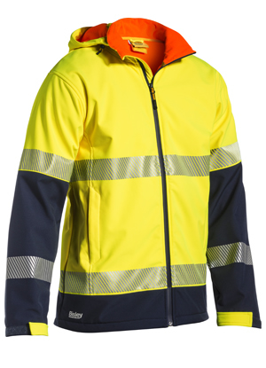 BJ6934T Taped Two Tone Hi Vis Ripstop Softshell Jacket
