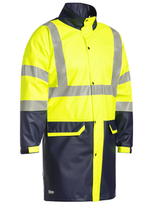 BJ6935HT Taped Two Tone Hi Vis Stretch PU Rain Coat