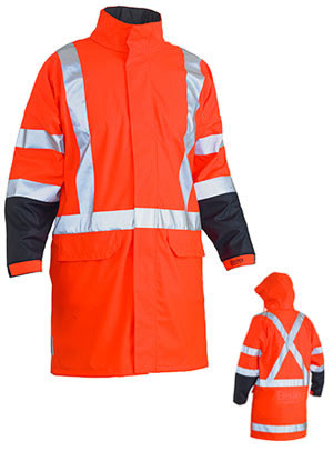 BJ6955XT TTMC-W 3M X Taped Two Tone Hi Vis Stretch PU Rain Coat