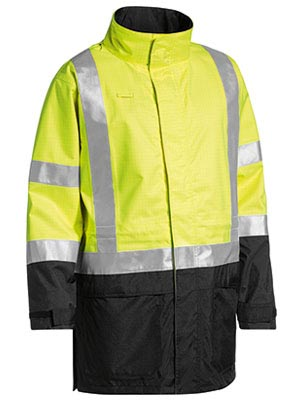BJ6963T 3M Taped Two Tone Hi Vis Anti Static Wet Weather Jacket