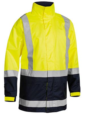 BJ6966T Two Tone Taped Hi Vis Rain Shell Jacket