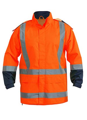 BJ6967T Taped Hi Vis Rain Shell Jacket