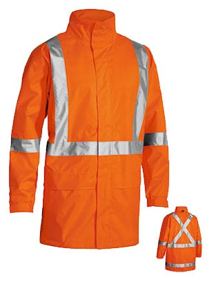 BJ6968T X Taped Hi Vis Rain Shell jacket
