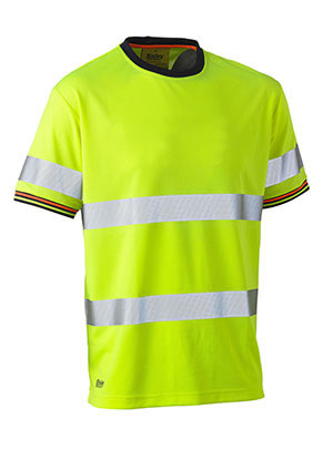 BK1220T Taped Hi Vis Polyester Mesh Short Sleeve T-Shirt