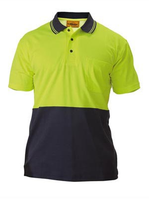 BK1234 2 Tone Hi Vis Polo Shirt - Short Sleeve