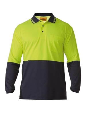 BK6234 2 Tone Hi Vis Polo Shirt - Long Sleeve