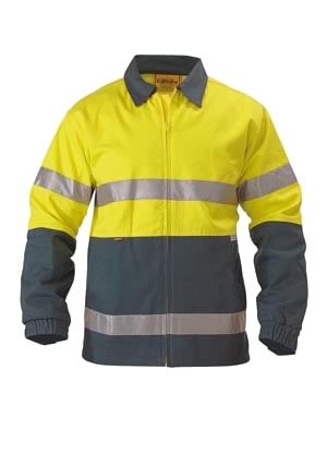 BK6710T 2 Tone Hi Vis Drill Jacket 3M Reflective Tape