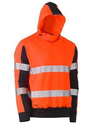 BK6815T Taped Hi Vis Stretchy Fleece Hoodie