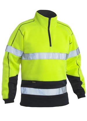 BK6989T Taped Hi Vis Fleece Pullover