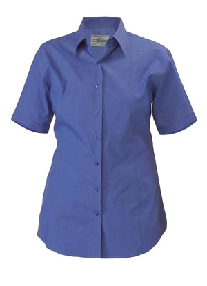 BL1646 Womens Cross Dyed Shirt - Short Sleeve