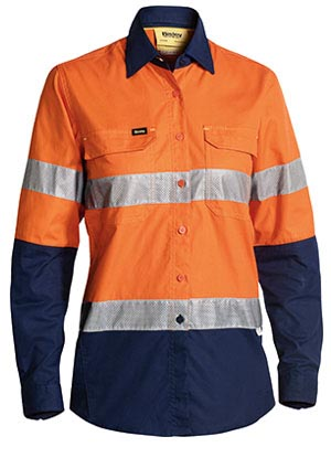 BL6415T Womens 3M Taped Hi Vis X Airflow Ripstop Shirt