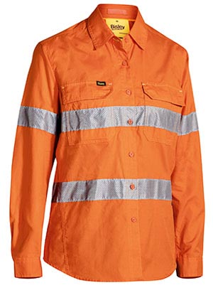BL6416T Womens 3M Taped Hi Vis X Airflow Ripstop Shirt
