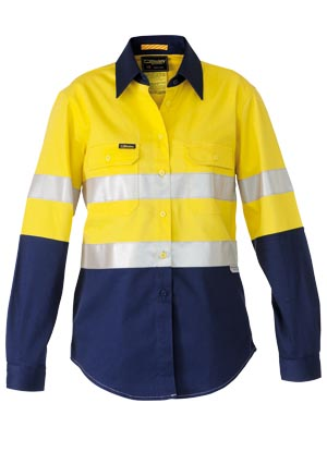 BL6448T 3M Taped 2 Tone Womens Hi Vis Industrial Cool Vent Shirt