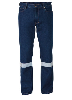BP6053T 3M Taped Industrial Straight Leg Mens Work Denim Jean