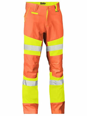 BP6411T Taped Biomotion Double Hi Vis Pant