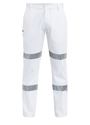 BP6808T 3M Taped Cotton Drill White Work Pant