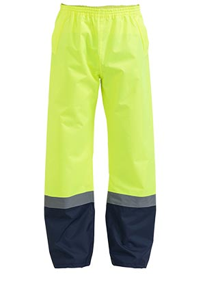 BP6965T Taped Two Tone Hi Vis Shell Rain Pant