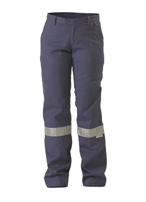 BPL6007T Womens Drill Pant 3M Reflective Tape