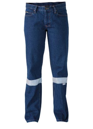 BPL6053T 3M Taped Industrial Womens Boot Leg Work Denim Jean