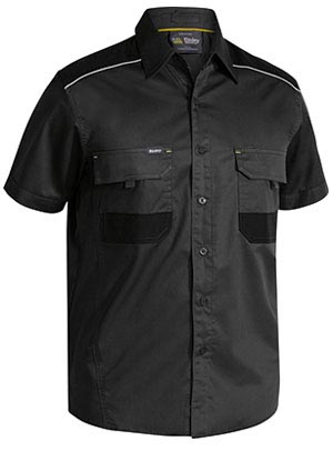 BS1133 Flex and Move Mechanical Stretch Shirt Short Sleeve