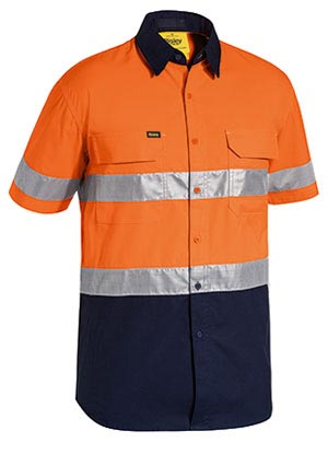 BS1415T 3M Taped Hi Vis X Airflow Ripstop Short Sleeve Shirt