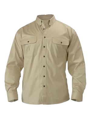 BS6255 Mini Twill Shirt - Long Sleeve