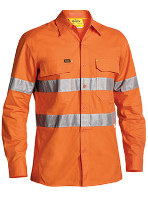 BS6416T 3M Taped Hi Vis X Airflow Ripstop Shirt Long Sleeve