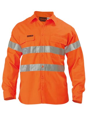 BS8004 Hi Vis Shirt - Indura Ultra Soft Flame Resistant With Tape