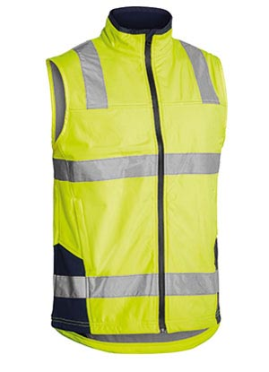 BV0348T Taped Hi Vis Soft Shell Vest